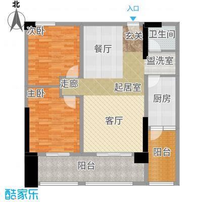湘运大厦・曼哈顿方正实用布局科学合理动静分区干湿分离户型2室1卫1厨