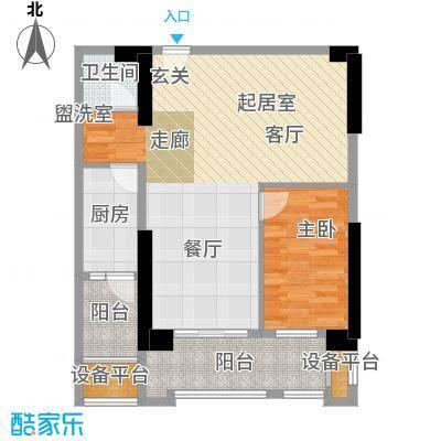 湘运大厦・曼哈顿奢适格局方正布局合理户型1室1卫1厨
