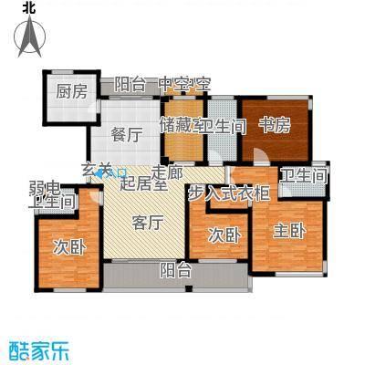 金色水岸四室二厅三卫――208平米户型