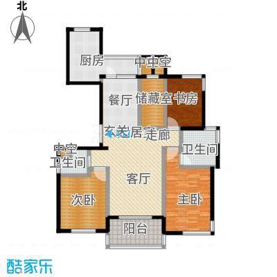 金色水岸三室二厅二卫――135平米户型