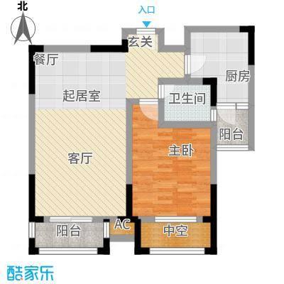 嘉城南都苑75.00㎡G-2-2户型1室2厅1卫