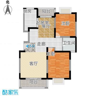 金港河滨华城100.00㎡房型: 二房; 面积段: 100 -110 平方米; 户型