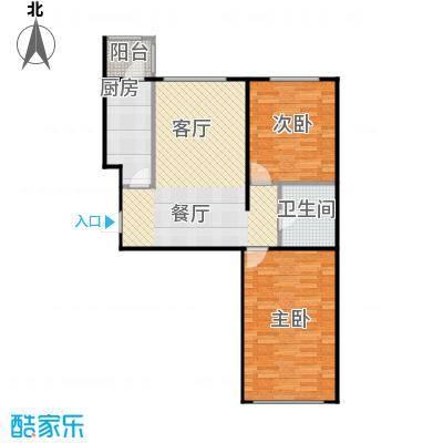 欣美御河九号76.18㎡A-户型10室