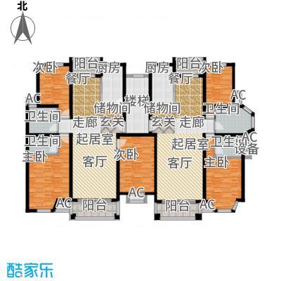 金港河滨华城房型: 二房; 面积段: 90 -126 平方米; 户型