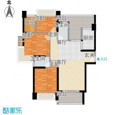 中澳滨河湾133.00㎡J2 01、02户型奇数层户型3室2厅2卫