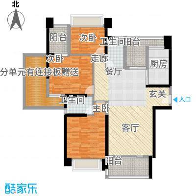 中澳滨河湾133.00㎡J2 01、02户型偶数层户型3室2厅2卫
