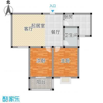 龙悦湾户型2室1卫1厨