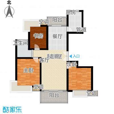 当代华府3室2厅1卫,面积115.45M2,高层-普通住宅/平层户型