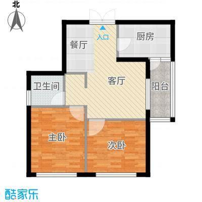 高铁时代广场78.71㎡户型2室2厅1卫