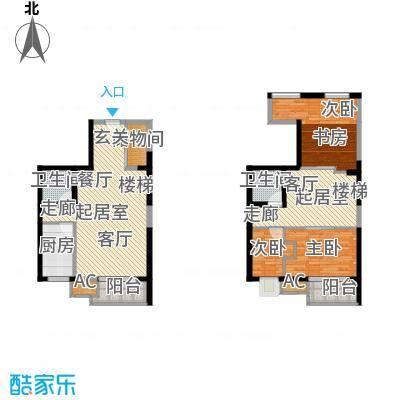 江南文枢苑叠韵69.00㎡B户型 3室2厅2卫户型3室2厅2卫