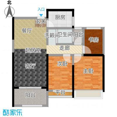 泽华・上东海岸78.00㎡A-2/C-2户型3室2厅1卫
