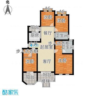 加州玫瑰园4室2厅2卫 152平方户型图 普通户型