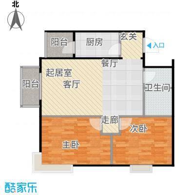 鸥洲电梯洋房户型图N户型2室2厅1卫