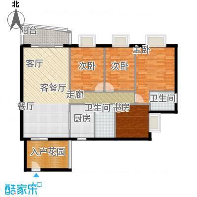 皇龙新城祥和苑户型4室1厅2卫1厨