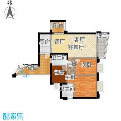皇龙新城祥和苑户型3室1厅2卫1厨