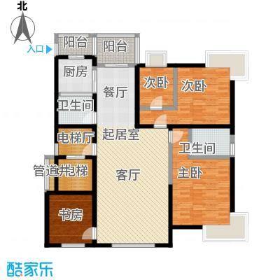 鑫瑞名苑1#1门02 3室2厅163.78㎡户型