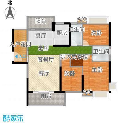 锦盛恒富得138.00㎡9-12栋02户型3室2厅2卫X