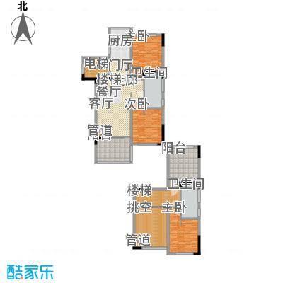 三亚小院103.00㎡F户型图户型3室2厅2卫