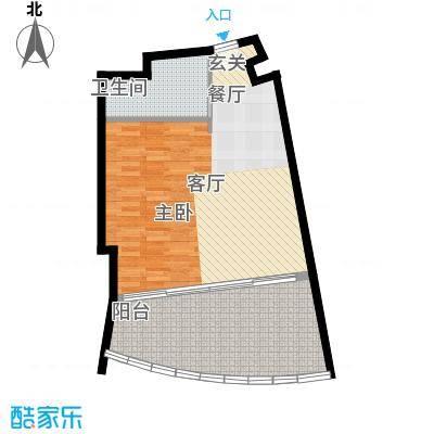 保利・凤凰公馆塔楼S1户型平面图户型