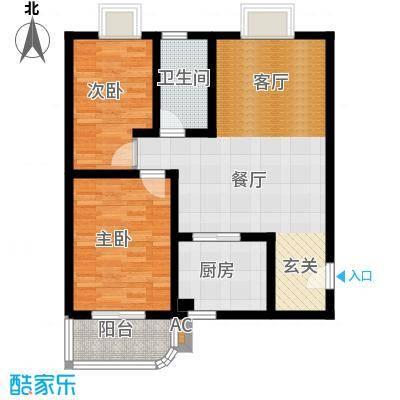汉口人家(一期)77.56㎡房型: 二房; 面积段: 77.56 -99.01 平方米;户型
