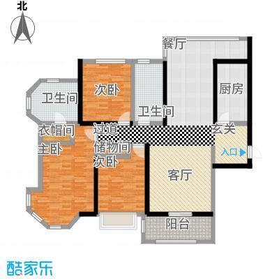 上海公馆142.16㎡6#7#C6户型3室2厅2卫