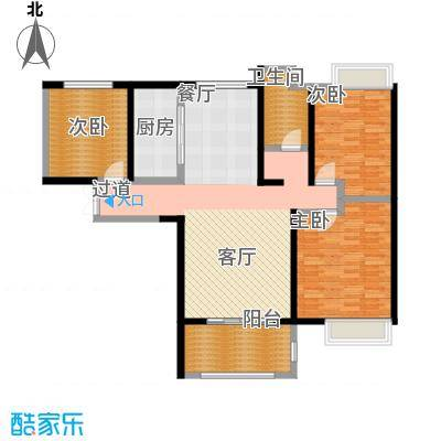 国贸天琴湾121.00㎡8、9号楼B户型3室2厅1卫
