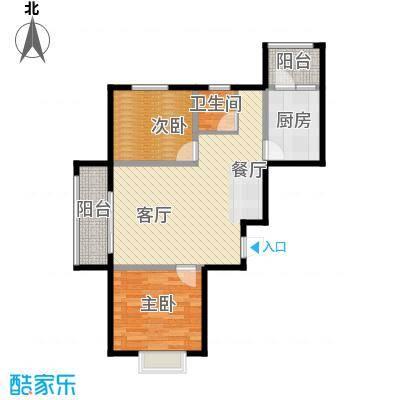 富东景苑85.00㎡户型2室2厅1卫