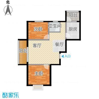 富东景苑68.68㎡户型2室2厅1卫