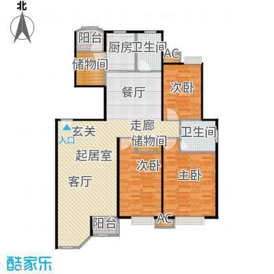 碧水晴天(三期)115.00㎡房型: 三房; 面积段: 115 -135 平方米;户型