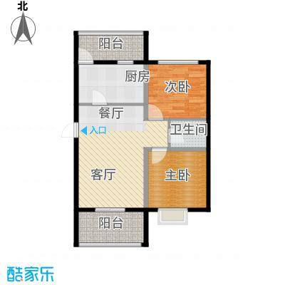 富东景苑67.00㎡户型2室2厅1卫