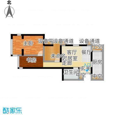 雅宾利花园91.03㎡E1户型 3室2厅1卫户型3室2厅1卫