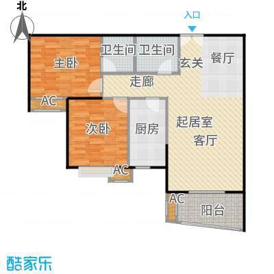 碧水晴天(三期)95.00㎡房型: 二房; 面积段: 95 -110 平方米;户型