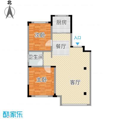 葫芦岛龙湾壹品94.80㎡户型2室2厅1卫