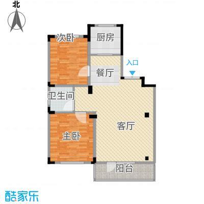 葫芦岛龙湾壹品93.87㎡9333户型2室2厅1卫