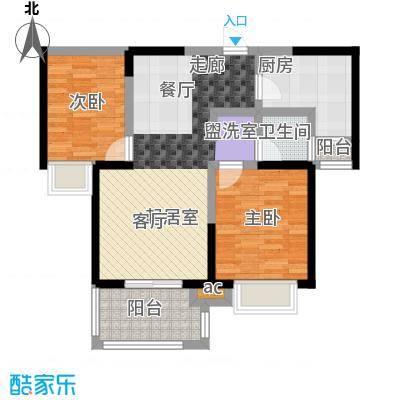 君河湾94两室两厅一卫户型2室2厅1卫