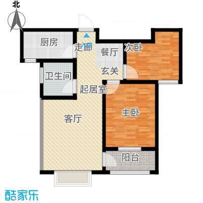 中房青年城85.70㎡6#F户型2室2厅1卫
