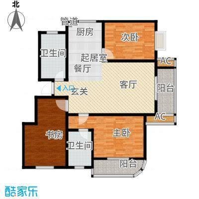 金色奥园133㎡三室户型3室2厅2卫