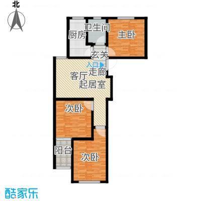 中房青年城115.10㎡2#C户型3室1厅1卫