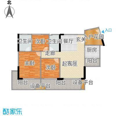富力现代广场120.40㎡A1栋3二至二十八层平面户型3室2厅2卫