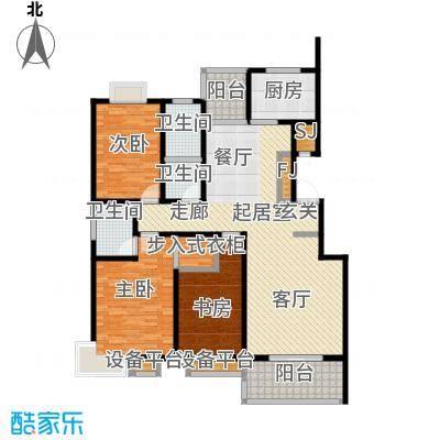 四季花城135.30㎡D1户型135.3户型3室2厅2卫