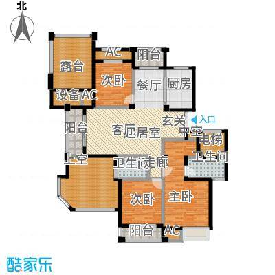 皇马公寓143.00㎡s户型,143平方米户型3室2厅2卫