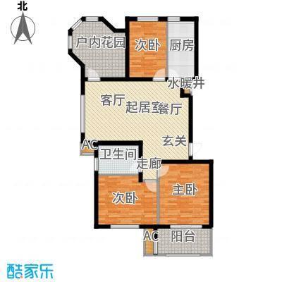 亚泰城112.00㎡四室二厅一卫户型4室2厅1卫