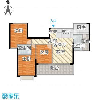 御水湾137.00㎡B3户型137平米三房户型3室2厅2卫
