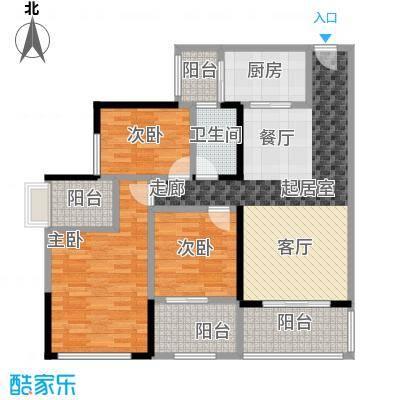优格国际105.39㎡2栋/3栋03/04户型3室2厅1卫