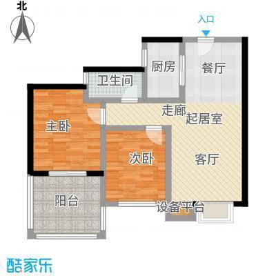 拓兴・阳光新城84.12㎡D4户型2室2厅1卫