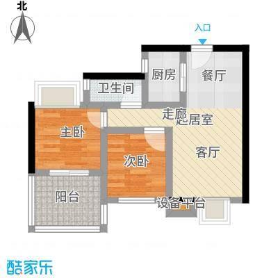 拓兴・阳光新城84.12㎡D4户型3室2厅1卫