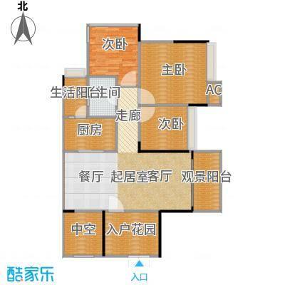花海湾102.18㎡2栋04单元三房两厅一卫户型3室2厅1卫