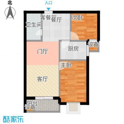 阳光盛景89.49㎡H2两室两厅一卫户型