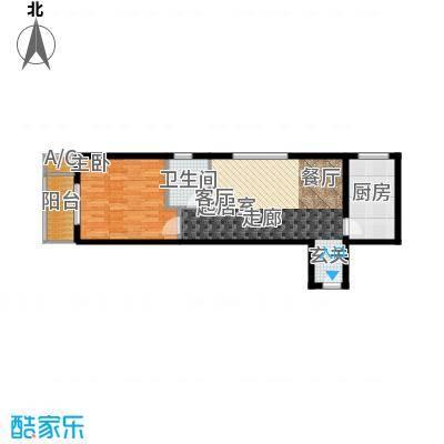 一等海户型图户型1室2厅1卫X