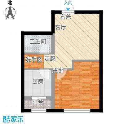 通泰观海首府一室一厅户型